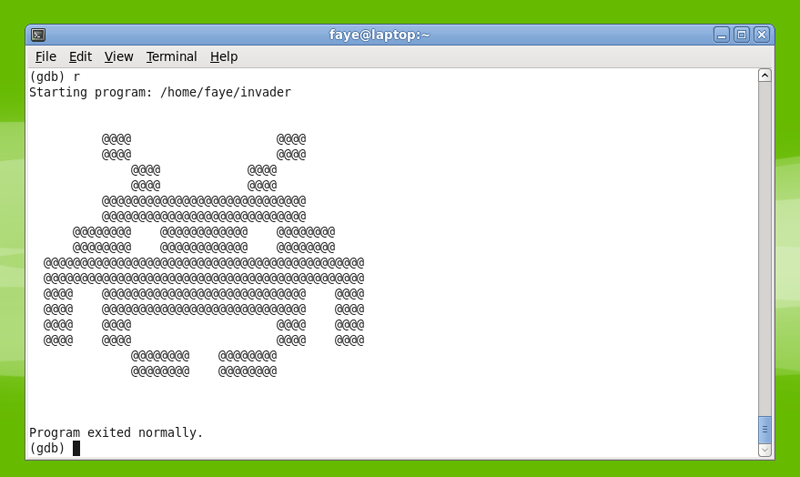 ascii space invader